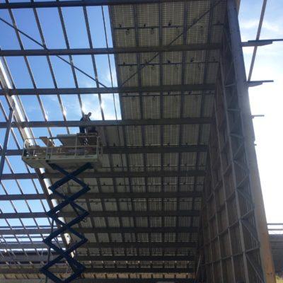 Novembre 2019 - Début de la pose des panneaux solaires