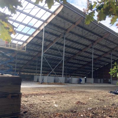 Vue intérieure de la toiture photovoltaïque