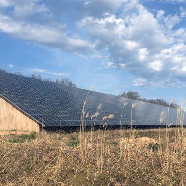 Achèvement des hangars solaires